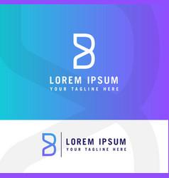 B logob letter design modern monogram icon vector
