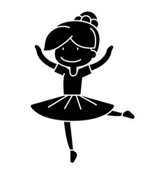 Ballerina girl balet dancer icon vector