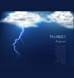 banner with clouds and charge lightning vector image