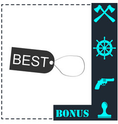 best tag icon flat vector image