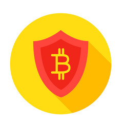bitcoin secure circle icon vector image