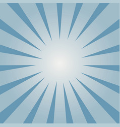 blue sunburst pattern vector image