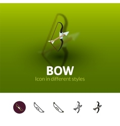 Bow icon in different style vector image