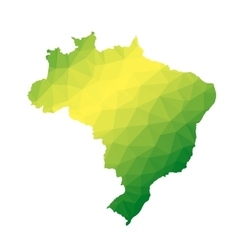 Brazil abstract polygonal map vector