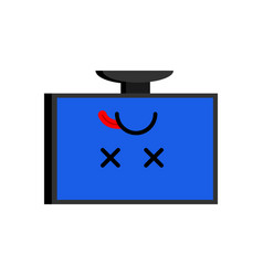 broken computer dead pc emoji blue screen of death vector image