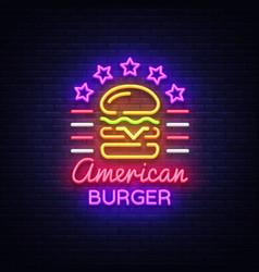Burger logo american burger design vector