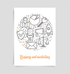 business and marketing technology concept vector image