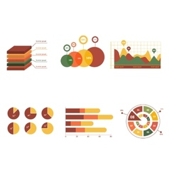 Business data market elements dot bar pie charts vector image