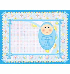 card for a baby boy vector image