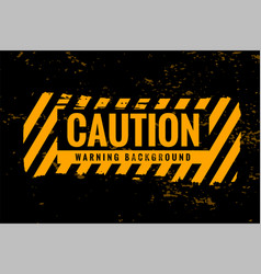 caution warning background with yellow and black vector image