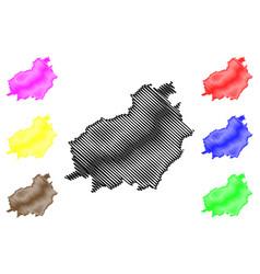 Central kalimantan map vector