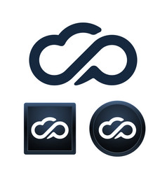 cloud icon set isolated vector image