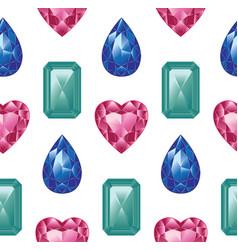 colorful gemstones set vector image