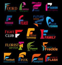 Company corporate identity trendy design f icons vector