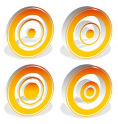 Concentric circles bullseye cross-hair reticle vector