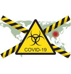 Concept 2019-ncov covid coronavirus vector