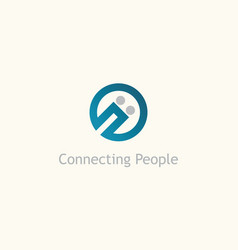 connecting people logo vector image