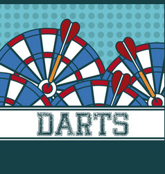 Darts sport concept vector