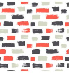 dash grunge seamless pattern vector image