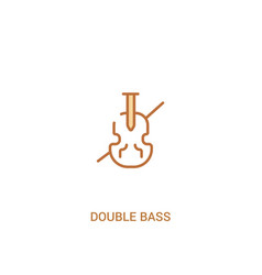 Double bass concept 2 colored icon simple line vector