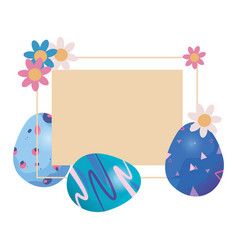 eggs happy easter vector image