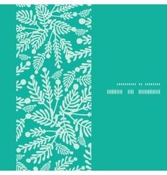 Emerald green plants vertical frame vector