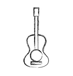 Figure guitar acoustic intrument of music player vector