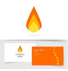 fire flame logo icon flat cartoon vector image