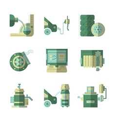 Flat color icons for car service vector