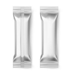 Foil bar sticks blank aluminum sealed pack vector