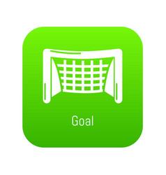 goal soccer icon green vector image