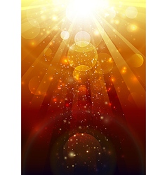 Gold light vector image