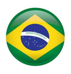 Isolated flag of brazil vector