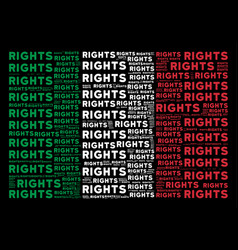 Italian flag pattern of rights text items vector