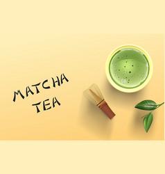 Matcha tea vector