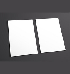 Mockup two white blank on a black background vector