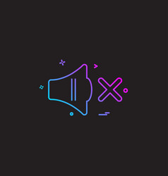 Mute icon design vector