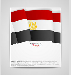 National flag brochure of egypt vector