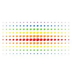 Olive spectral halftone grid vector