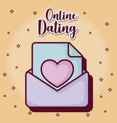Online dating desing vector