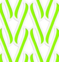 Paper cut out green integrals vector