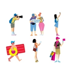 People travelling vector image