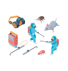 pest destruction fumigation poison controlling vector image