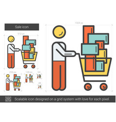 Sale line icon vector