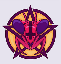 Satanic mantis vector