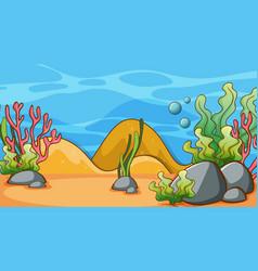 Scene with seaweeds under sea vector