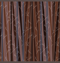 seamless pattern with trees without leaves vector image