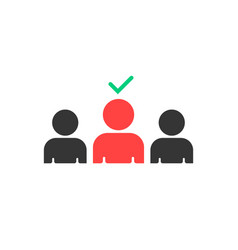 selection good employees to work vector image