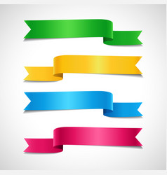 set colored decorative arrow ribbons vector image