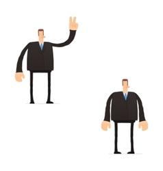 Set funny cartoon businessman vector